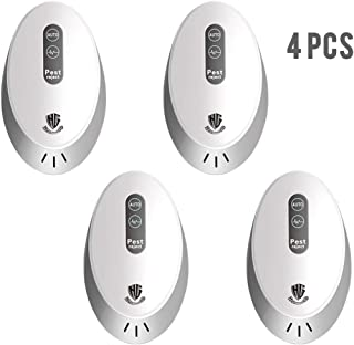 HUNTINGOOD Ultrasonic Pest Repeller,Pest Controller for Pest Reject,Pest Repellent Indoor Plug in,Pest Defender Getting Rid of Spider Mice Mosquito Rats Roaches Cockroaches Rodent Insect(4 Packs)
