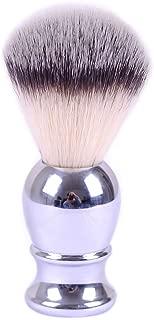 Shaving Brushes, JR 0.79inch Synthetic Nylon Brush Hair Knot with Engineered Zinc Alloy Chrome Handle Shaving Brush for Men, Safety Razor, Double Edge Razor, Shaving Razor