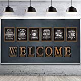 13 Pieces Industrial Chic Bulletin Board Posters,Laminated Inspirational Quote Positive Affirmation Motivational Posters with Welcome Sign for School Classroom Wall Bulletin Board Decoration