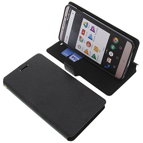 foto-kontor Tasche für Allview V2 Viper S Book Style schwarz Schutz Hülle Buch