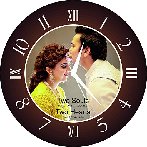 Creative Creation Personalized and Customized Photo Hanging Wall Decor Vinyl Clock Picture Frame