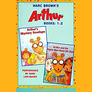 Arthur: Books 1-2     Arthur's Mystery Envelope; Arthur and the Scare-Your-Pants-Off Club              By:                                                                                                                                 Marc Brown                               Narrated by:                                                                                                                                 Mark Linn-Baker                      Length: 1 hr and 9 mins     15 ratings     Overall 3.7
