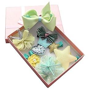 ヘアー アクセサリー キッズ 子ども 9点セット ギフトボックス付き 発表会 コンサート パーティ 七五三 ウェディング 結婚式 晴れの日 BEATON JAPAN