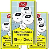 PIC - Silberfisch-Köderdose - 3x3 = 9 Stück - Silberfische bekämpfen einfach gemacht