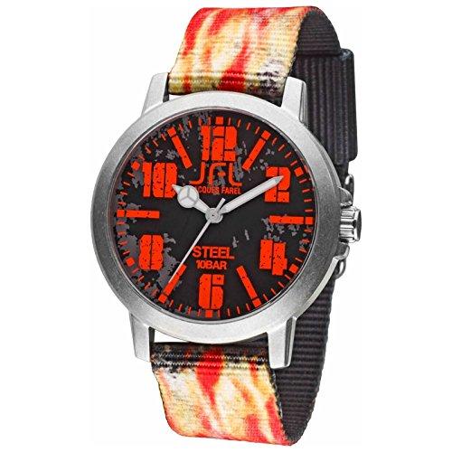 Orologio JFL di Jaques Farel stile hipster con bandiera Flame CRS 003
