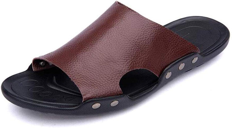 Men's shoes Sandals Comfort Slippers & Flip-Flops for Casual White Black Brown orange,Brown,43