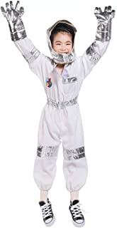 RROVE Disfraz de Astronauta para Casco Niño Mono para niños Espacio, Juego de simulación con Guante de Sombrero