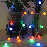 Cuento de hadas garland bombilla LED lámpara bombilla eléctrica impermeable decoración navideña cadena de luz batería multicolor 6m60 leds