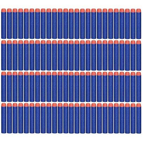 BestMall 7.2 cm 100pcs Recarga Dardos, Espuma Suave Dardos Recarga Bala Blasters para Nerf N-Strike Elite Serie Niños Juguete (Azul)