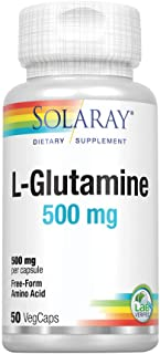 Solaray L-Glutamine 500mg | Healthy Muscle Recovery, Gastrointestinal & Immune System Support | Non-GMO | Vegan | Lab Veri...
