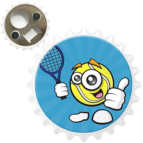 Sporticons Happy Sports Balles Décapsuleur Aimant de réfrigérateur, Sporticon Tennis Thumbs Up, Bottle Opener