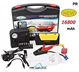PRIKNIK Power Bank Charger Portable 16800mAh Vehicle Car Jump Starter Booster Battery with Air...