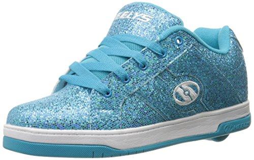 HEELYS Girls Split Sneaker, Blue Disco Glitter, 6 Little Kid