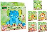 Globo Juguetes globo–3770122x 19,8x 1,8cm, 1surtidos Legnoland de madera Animal Puzzle