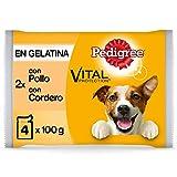 Pedigree Comida húmeda para Perros en Gelatina Sabores Pollo y Cordero,...
