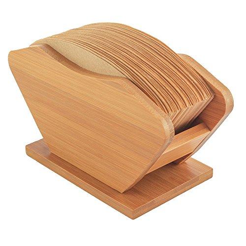 Kaffeefilter Halterung - Saebye Kaffeefilterhalter Holz - Erneuerbare Bambus Fächerförmige Kaffee Filtertütenhalter für Filtertüten