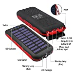 Solar Power Bank Portable Phone Charger 25000mAh【2020 Newest Solar Charger】Battery Pack Water-Resistant 3 Output Ports… 7