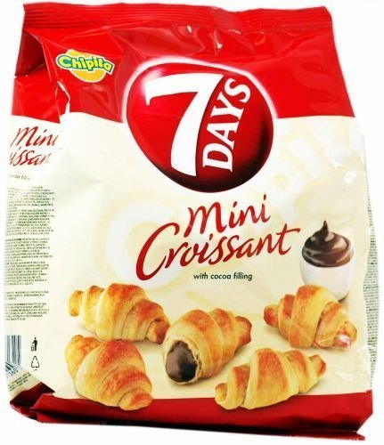 7 Days Mini Croissants with Coca Cream Filling From Greece - 72g (2.5 Ounches) by 7Days