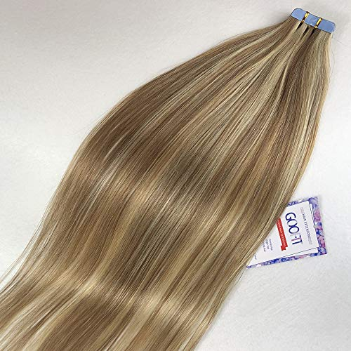 Tape in Hair Extensions 20pcs Human Hair - 100% Real Remy Hair Straight...