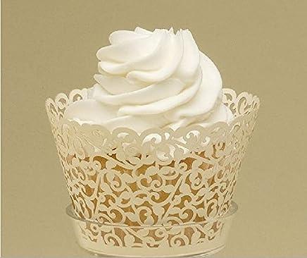 Wedding Lace Ivory Cupcake Wrapper