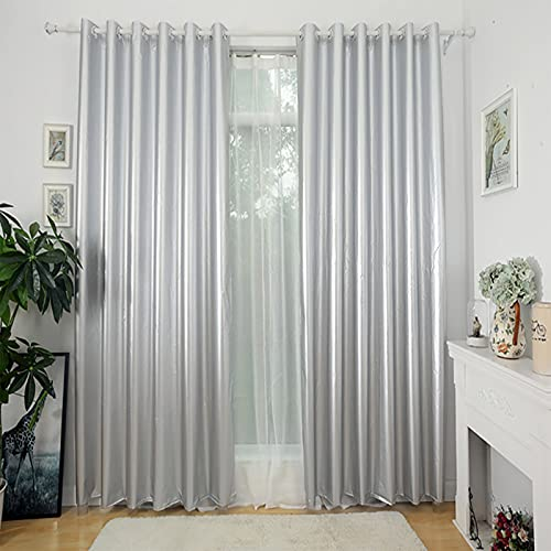 Okngr Blackout Curtains, Thermal Insulated Top Eyelet Pencil Pleat Blackout Curtain Draperies Room Darkening Window Treatment for Bedroom, 2 Panels, 110in Width x 79in Drop