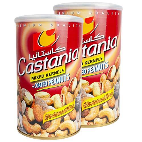 Castania - Orientalische Premium Nussmischung mit ummantelten Erdnüssen im 2er Set á 450 g