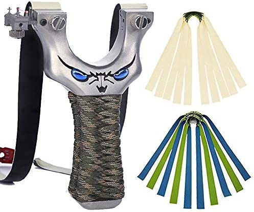 Obert Outdoor Slingshot Stainless Steel Max Bombing free shipping 62% OFF Catapult Rubber with 10