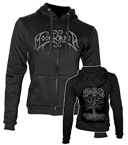 Moonsorrow Jumalten aika Zipped Damen Hoodie Sweater mit Logo Stick, Merchandise, schwarz X-Large