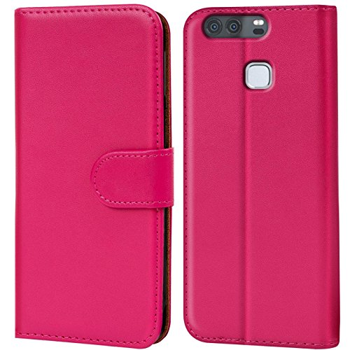 Verco Funda para Huawei P9, Telefono Movil Case Compatible con Huawei P9 Libro Protectora Carcasa, Rosa