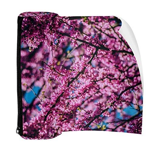Estuche rosa de Sakura árbol de lápices de la bolsa de la bolsa de la bonita pluma de la bolsa de la cremallera para artículos de papelería, viajes,