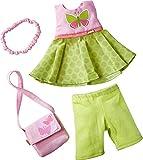 HABA 304253–Perchero de Mariposa, Set de Vestido, Pantalones, Bolso de Mano y Cinta de Pelo, muñeca Accesorio para Todos los 30CM Grandes muñecas, a Partir de 18Meses