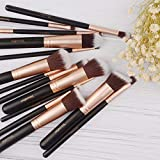 Pinselset, Yuwaku Make Up Pinsel Set 14 teilig Premium Synthetic Kabuki Eyeliner Lidschatten...