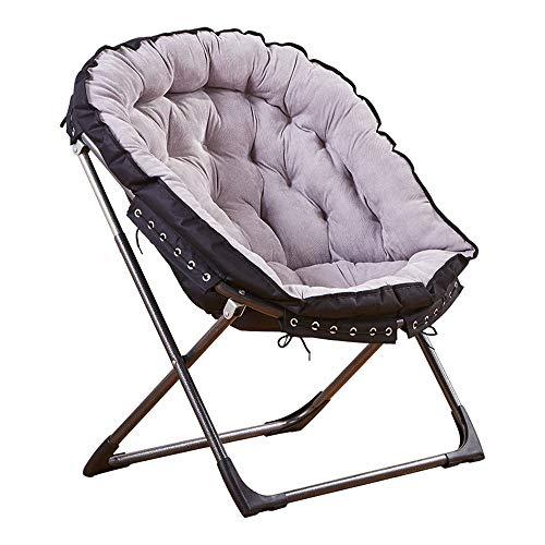 Sillón Sofá de asiento Lazy Couch Balcón portátil Silla reclinable para adultos Silla plegable Sillas plegables para el almuerzo para la sala de estar y dormitorio ( Color : Gray , Size : 73*50*94cm )