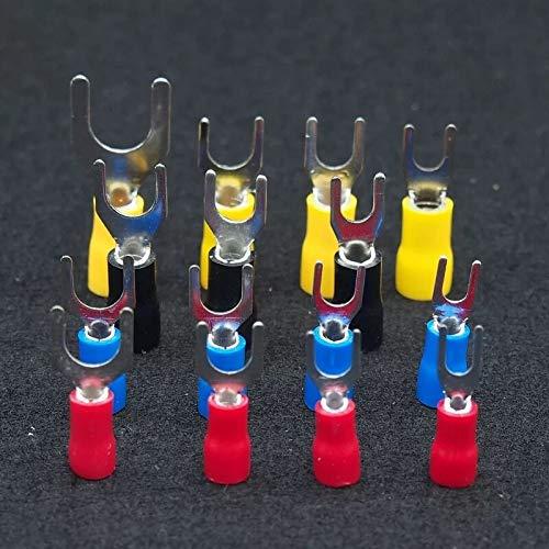 IGOSAIT 100 terminales de espada SV2-3/4/5/6 tipo de conector de cable de horquilla preaislada 16-14 AWG (color: como pic5, pines: SV2 3)