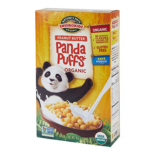 Nature's Path EnviroKidz Peanut Butter Panda Puffs Cereal, Healthy, Organic, Gluten-Free, 10.6 Ounce Box (Pack of 6)