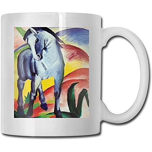 Blue Horse Grappige koffiemok, coole koffie theekop 11 ounces perfect cadeau voor familie en vrienden