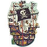 Djeco P. Gigante El Barco Pirata (37129), Multicolor (1)