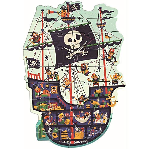 Djeco Gigante EL Barco pirata P. Riesiges Piratenschiff (37129), bunt