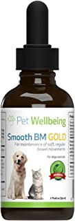 Pet Wellbeing - Smooth BM Gold for Dogs - Natural Constipation Support for Dogs - 2oz(59ml)