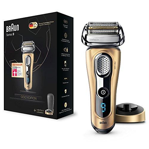 Braun Series 9 9299s Gold Edition - Afeitadora de lámina en húmedo y seco, titanio, LED, batería Ión de litio, dorado
