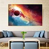 KWzEQ Imprimir en Lienzo Universe Galaxy modernposter y decoración para Sala de estar50x75cmPintura sin Marco