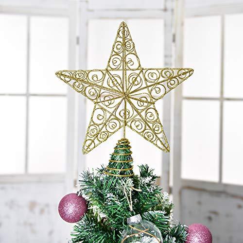 YQing Christmas Tree Star Topper, 11.3 inch Xmas Tree Topper Star Christmas...
