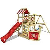 WICKEY Spielturm Klettergerüst SeaFlyer mit Schaukel & roter Rutsche, Baumhaus mit Sandkasten,...