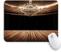 NIESIKKLAマウスパッド 木板の壁の背景にヴィンテージキャンドルシャンデリアブラックプリント ゲーミング オフィス最適 高級感 おしゃれ 防水 耐久性が良い 滑り止めゴム底 ゲーミングなど適用 用ノートブックコンピュータマウスマット