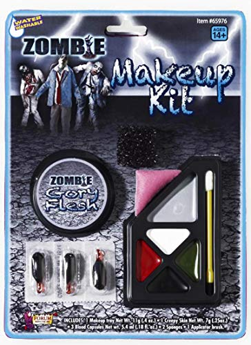 Forum Novelties Unisex Adult F65976 Costume Zombie Make-Up Kit, One Size, Multicolor