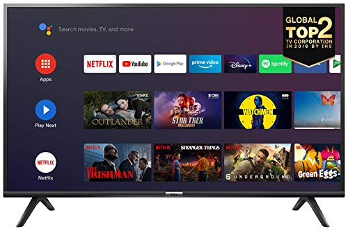 TCL 40ES561 Televisore 40 pollici, Smart TV (HD Android TV, HDR, Micro Dimming, Google Assistant, Google Home), Nero