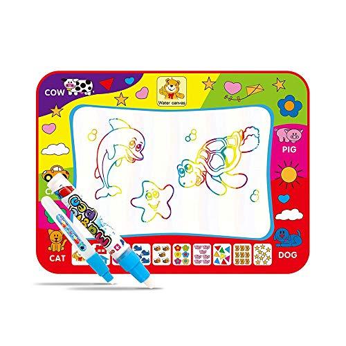 Doodle Mat,Tapis magique de griffonnage de l'eau avec des nuances de couleur arc-en-ciel, planche de tapis de dessin de l'eau des enfants, jouet éducatif cadeau pour les enfants