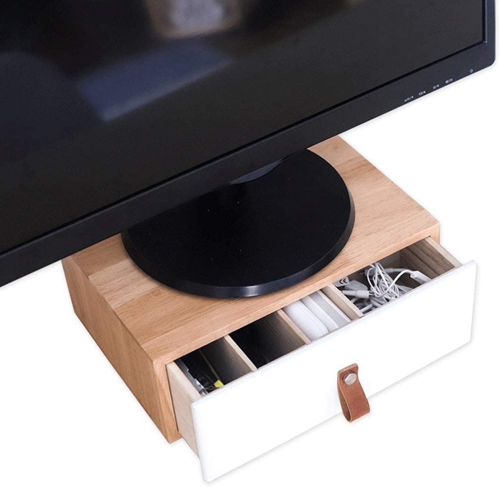 Rectangle Max 78% OFF Wood Monitor wholesale Stands Riser Screen TV