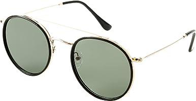 نظارة شمس بانتو بشنبر معدن منقوش وعدسات مستقطبة خضراء للجنسين من ديسبادا DS1627C1 - ذهبي