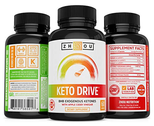 Zhou Nutrition Keto Drive Capsules, Ketosis Supplement with Bhb Exogenous Ketones - 500 Mg Bhb, Ketone Supplements for Keto Diet 3